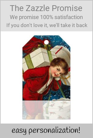 Vintage Child Carrying Christmas Packages Gift Tags |  Vintage Child Carrying Christmas Packages Gift Tags