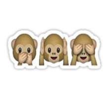 Hipster Stickers Monkey Emoji Emoji Emoji Drawings