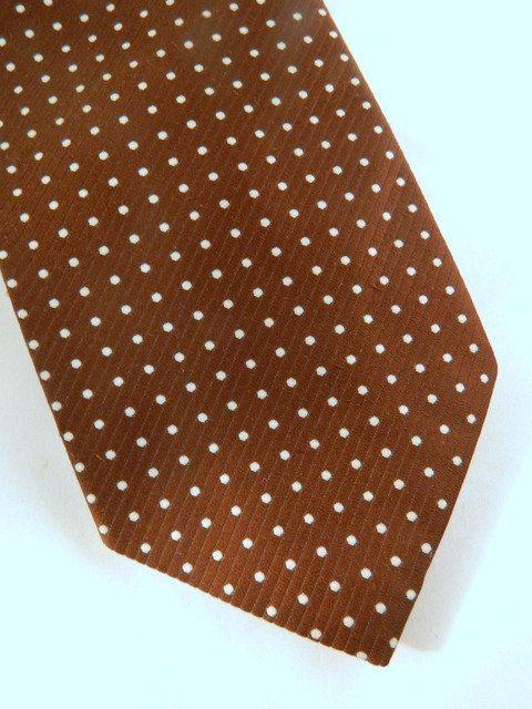 021a5d78faa2 Vintage Tie / Brown Tie / Venture Tie / Brown and White Polka Dot Wide 70s  Tie by VintageBaublesnBits, $12.00