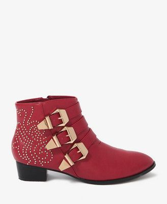 Buckled Ankle Boots | FOREVER21 - 2024825640