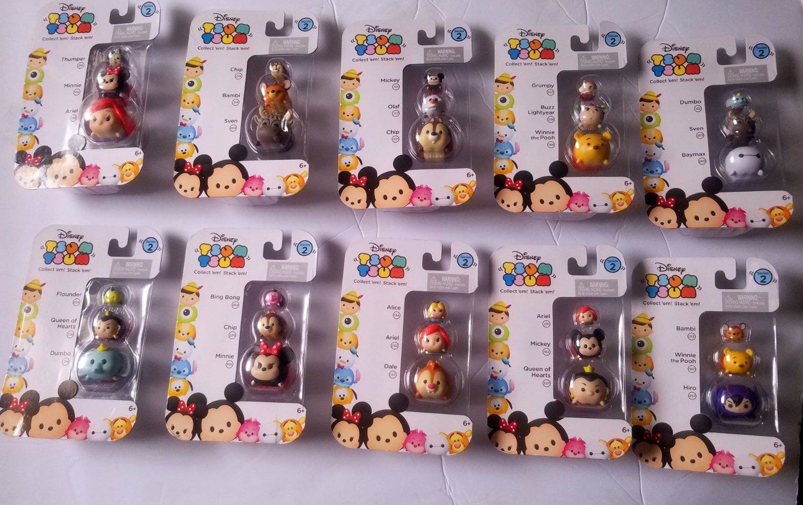 Disney Tsum Tsum Series 2 Includes 9 Figures New and Factory Sealed Free Shippin