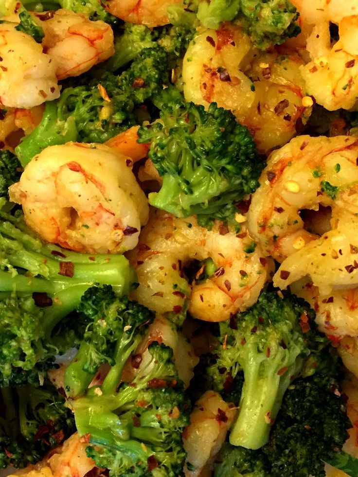 Shrimp And Broccoli Spicy Garlic Stir-Fry
