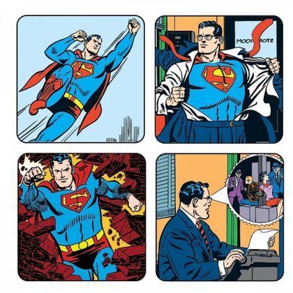 Pack de 4 Sous-Verres Superman   Kas Design dd7c0538fee