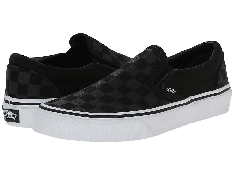 Discount Womens Casual Shoes - Vans Classic Slip On Core Classics (Checkerboard) Black/Black