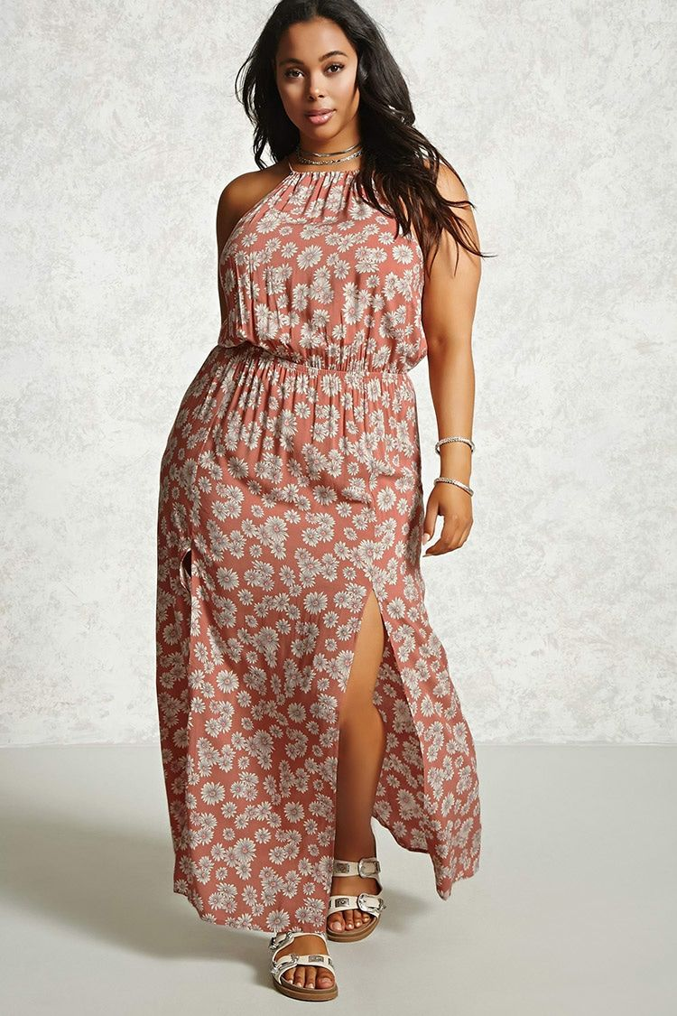 Plus Size Floral Maxi Dress - Plus Size - Dresses - 2000093825 ...