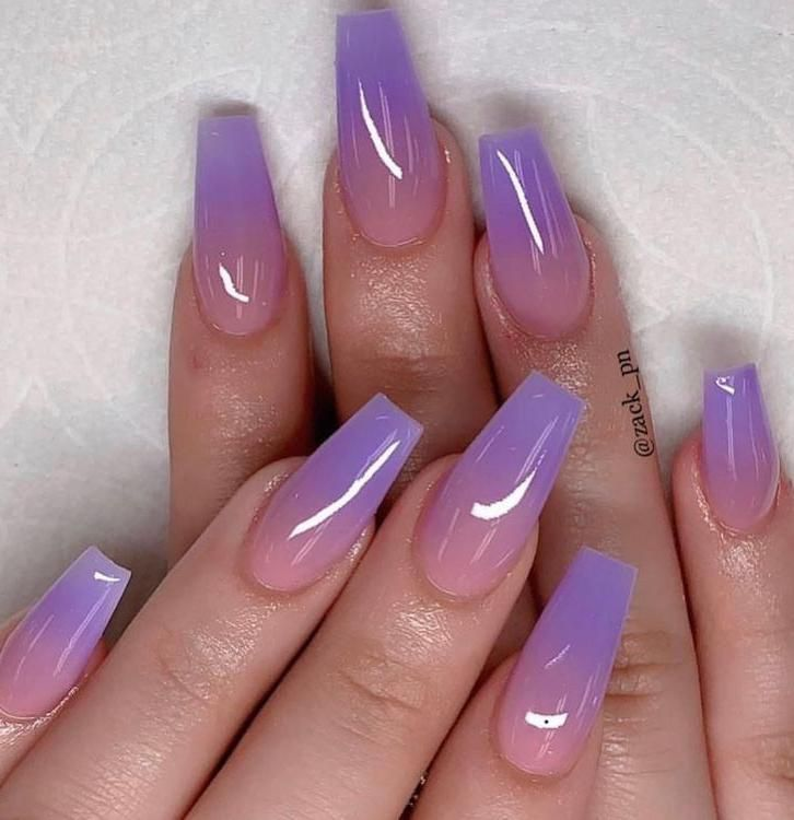 Purple Ombre Nails Simple Nail Designsombre Nail Designsfall Nail Designsstylish Nailsnail Colorst In 2020 Purple Acrylic Nails Purple Ombre Nails Ombre Acrylic Nails