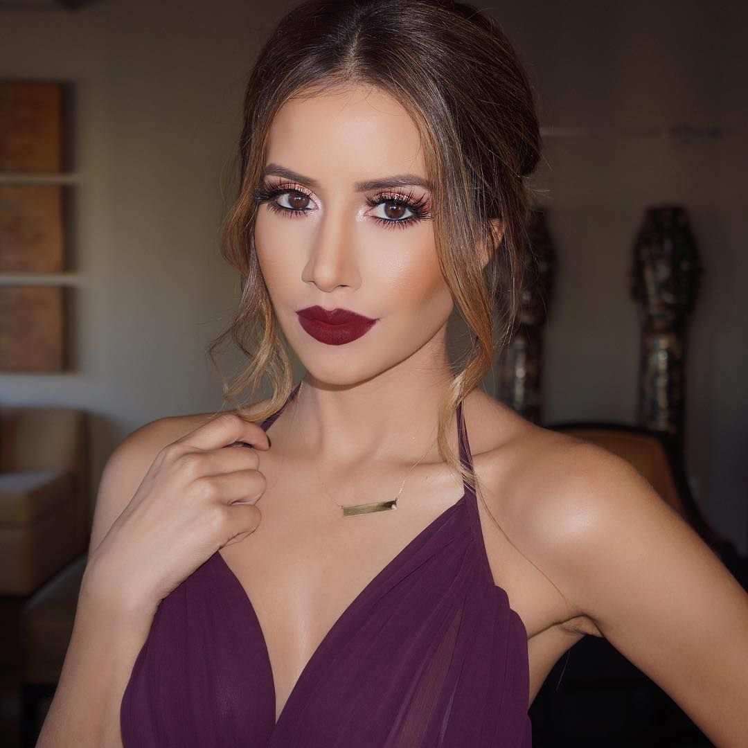 Jose Corella Los Angeles On Instagram Glammed Asifamirza Tonight Hair By Larackay W Makeup With Purple Dress Makeup For Burgundy Dress Bridesmaid Makeup [ 1080 x 1080 Pixel ]