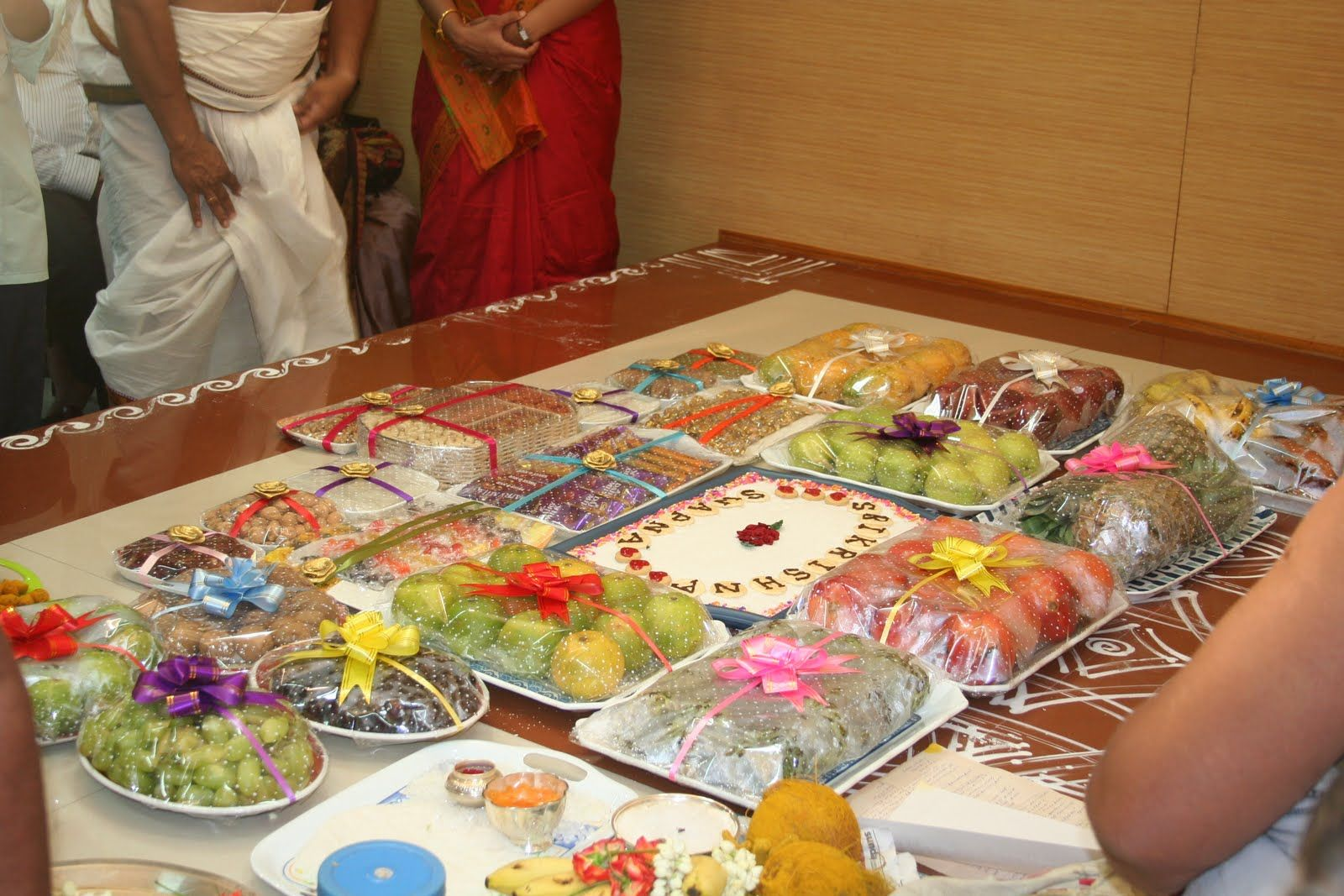 decoratve plates at indian wedding Annaprashana