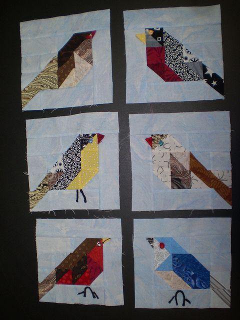 Birds X 6 Bird Quilt Blocks Bird Quilt Quilts