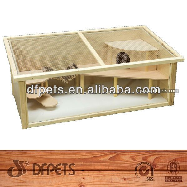 Source Plywood With Pvc Glass Hamster Cage Fsc Dfh 003 On M