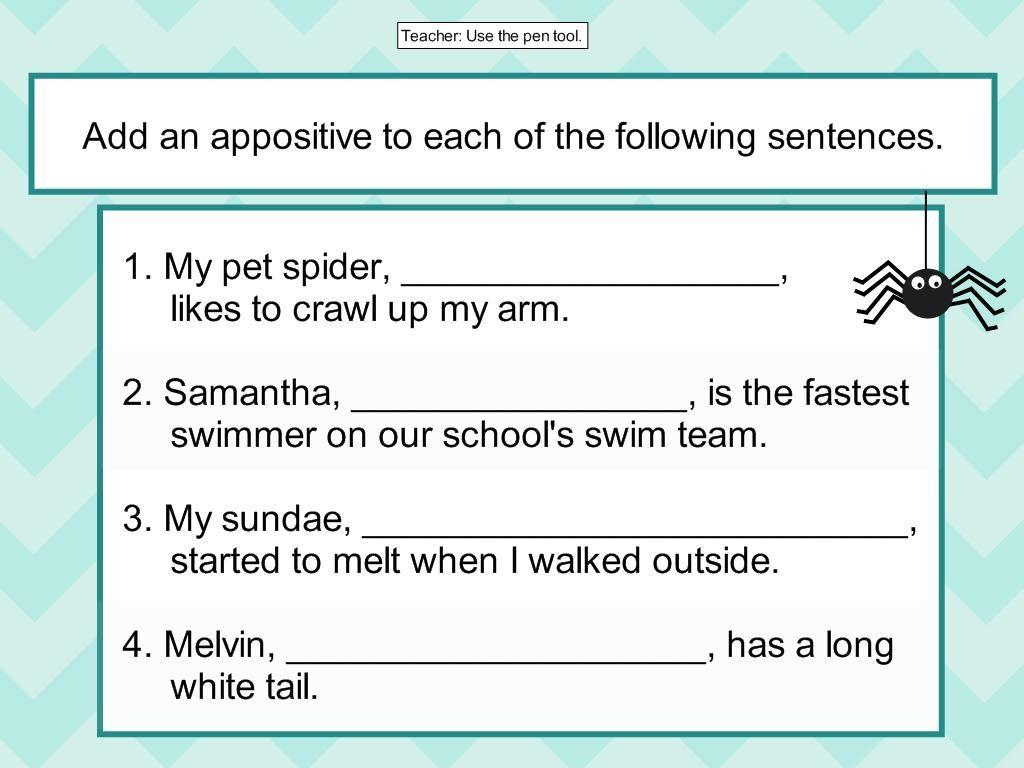 Appositive Interactive Lesson Digicore