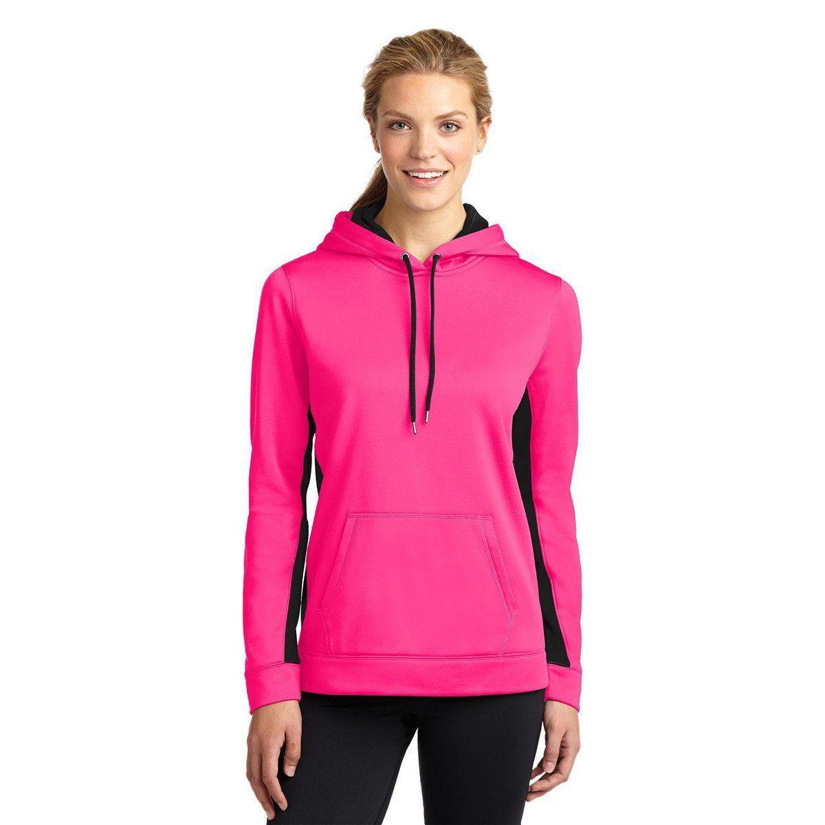 SportTek Women's Neon Pink/Black SportWick Fleece