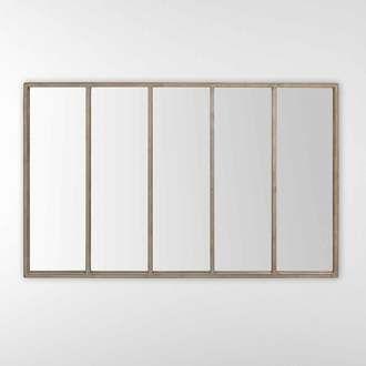 Metal Dimensions Longueur 140 Cm Hauteur 90 Cm Couleur Gris Finitions Accroche Murale Patine S Accroche Auss Miroir Rectangulaire Miroir Miroir Salon