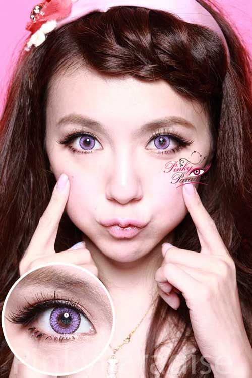 EOS Fairy Violet, Big Eyes with Natural Effect circle lenses