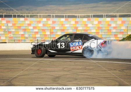 22.04.2017 Rustavi, Georgia. Rustavi international motorpark. Georgian Drift Series 2017 First Stage. BMW E36 Drifting