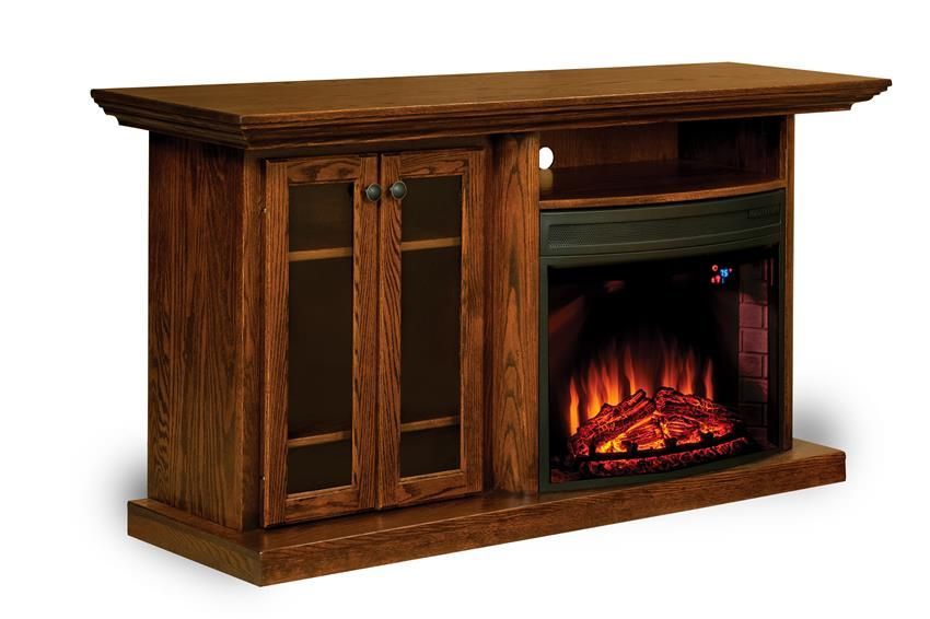 Amish Made 69 Electric Fireplace Entertainment Center Amish