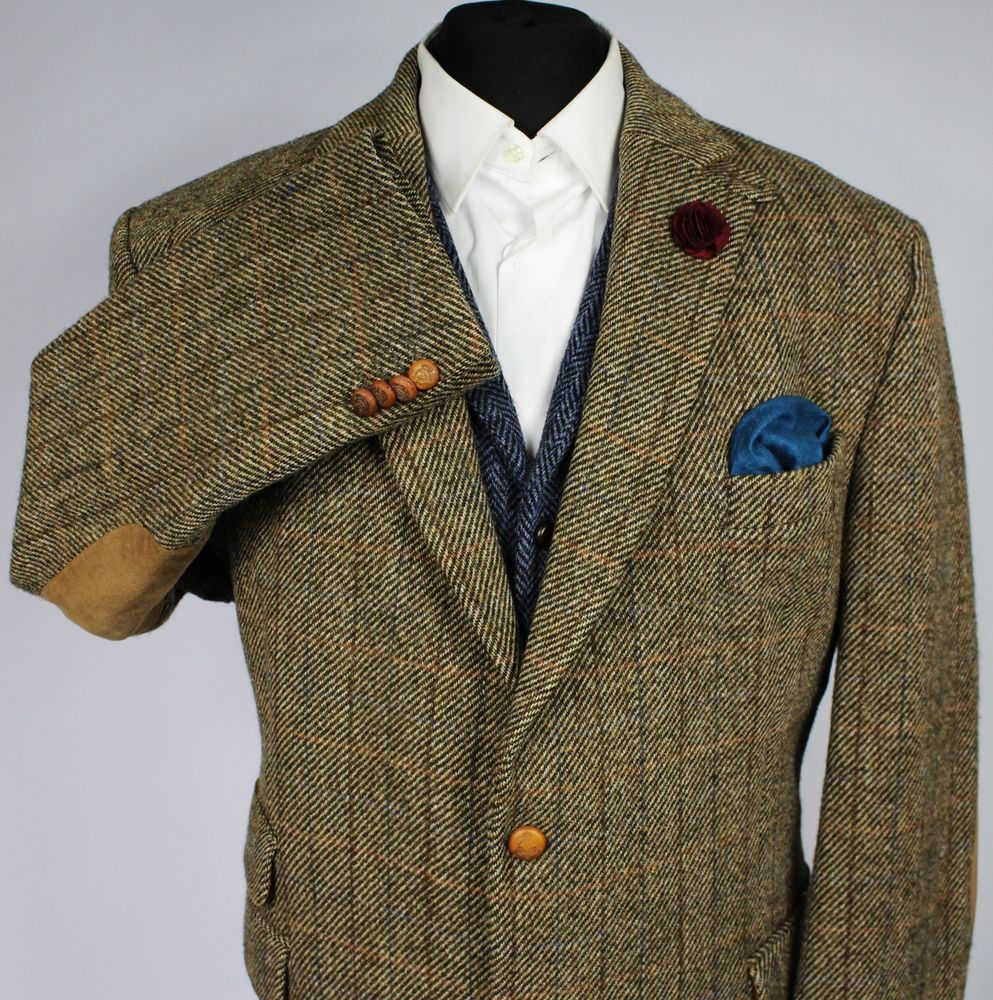 Harris Tweed Jacket Blazer Wedding Country 48L CARL GROSS