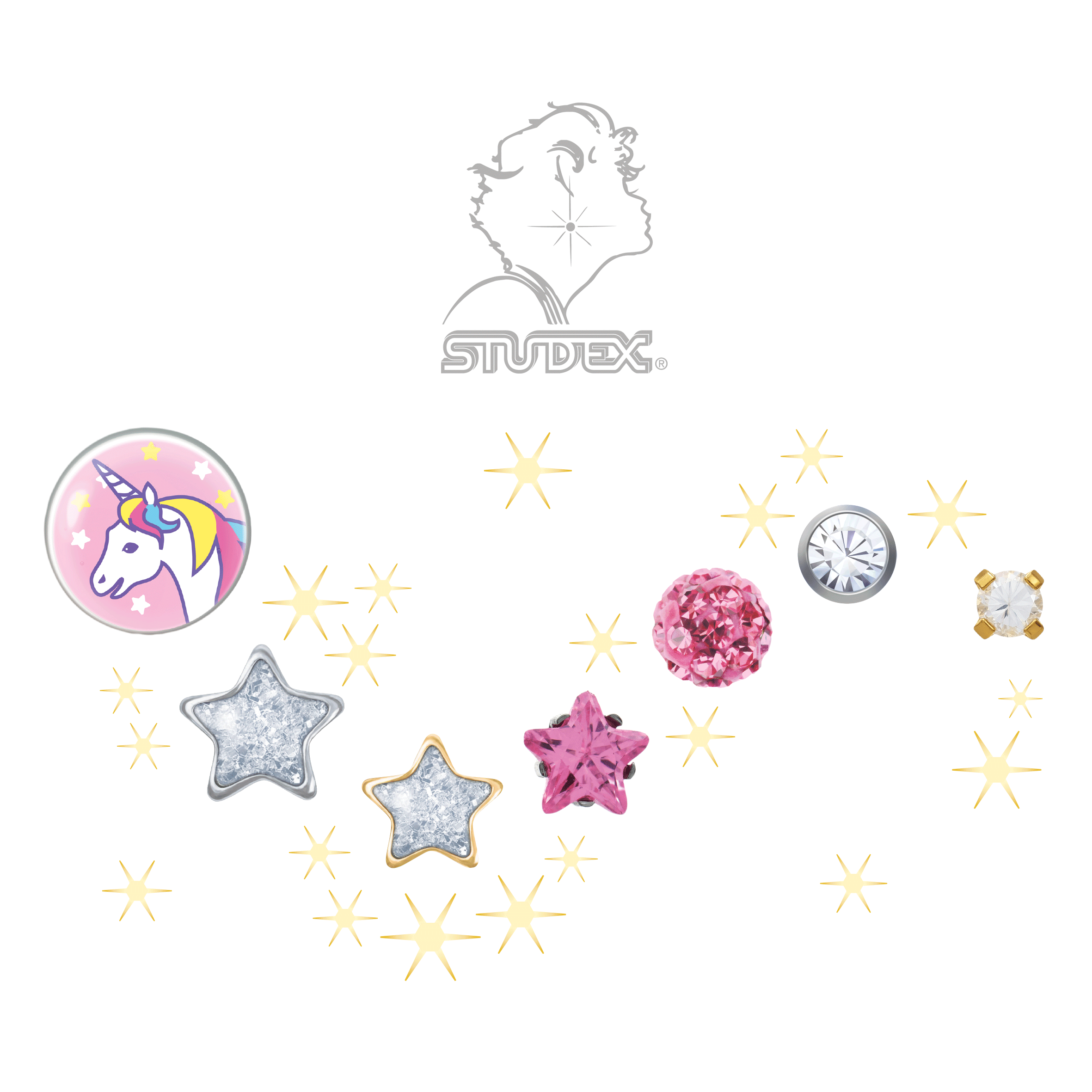 Earring and Ear Piercing Trends 2018 – #3: Individual Statements, Unicorns and Stardust