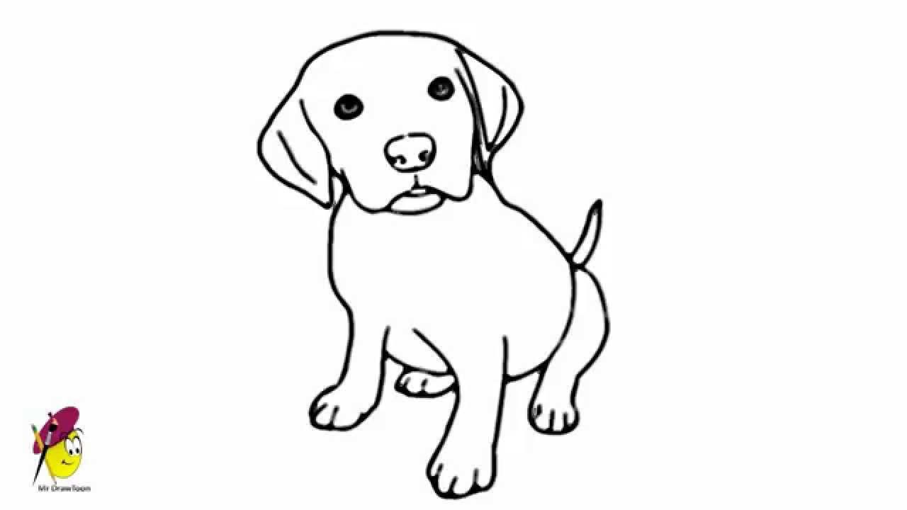 Baby Dog Pets And Animals Easy Drawing How To Draw A Dog Animal Drawings Dog Drawing For Kids Baby Animal Drawings