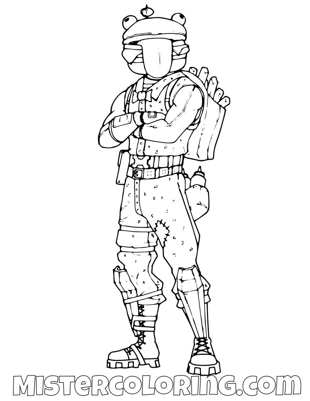 Free Durr Burger Fortnite Coloring Page For Kids Coloring Pages