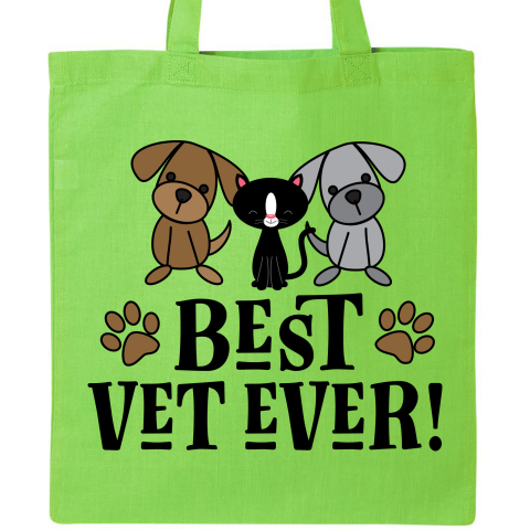Cute Gift For A Veterinarian Says Best Vet Ever 16 99 Www Funnyoccupationtshirts Com In 2020 Gifts For Veterinarians Veterinarian Tote Bag