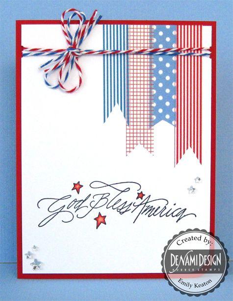 DeNami God Bless America Washi Tape card by @Emily Schoenfeld Schoenfeld Schoenfeld Schoenfeld Keaton