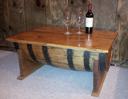 Bourbon Barrel Coffee Table Coffee Table Coffee Table Farmhouse Barrel Coffee Table