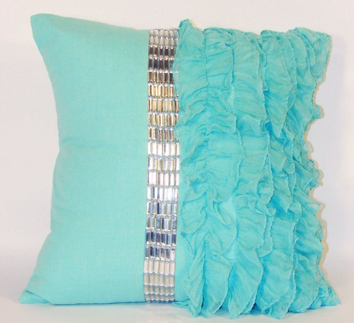 Green Jubilee Collection Ruffle Pillow
