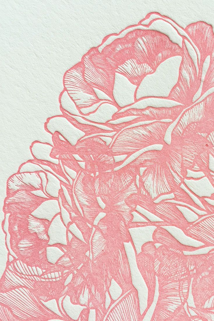 Our Letterpress Rose Bouquet Design Makes A Perfect Save The Date