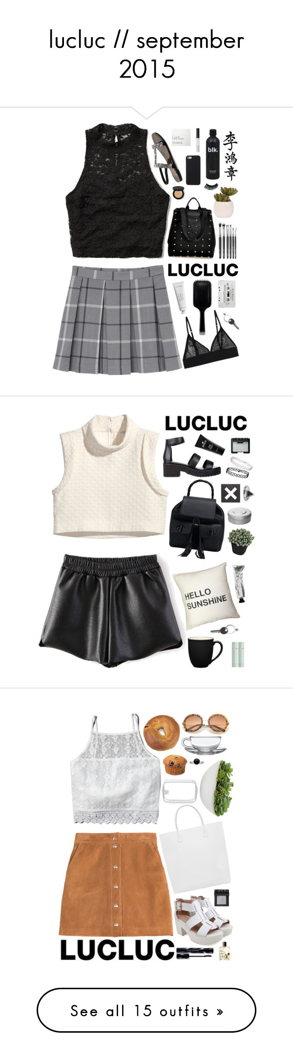 """""""lucluc // september 2015"""" by kristenkubek22 ❤ liked on Polyvore featuring Abercrombie & Fitch, Monki, NARS Cosmetics, GHD, Byredo, Bobbi Brown Cosmetics, eylure, Lux-Art Silks, Maison Margiela and lucluc"""