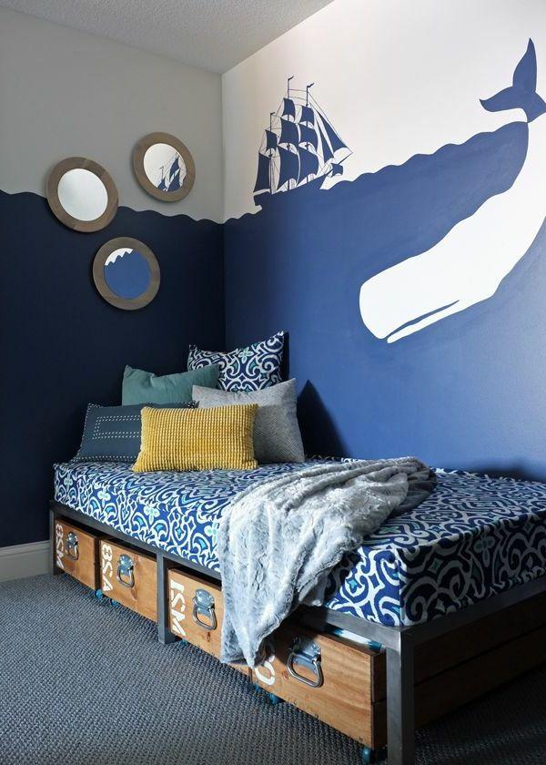 19 Wandgestaltung schlafzimmer maritim gestalten