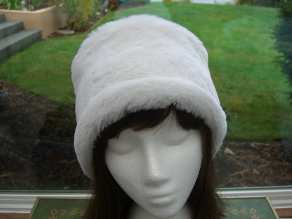 03875e8110a Winter White Faux Fur Hat