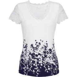 Alba Moda, Shirt mit floralem Druck, weiß Alba Moda
