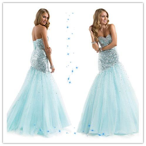 sequined corset tulle sweetheart mermaid floor length prom