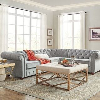 Knightsbridge tufted scroll arm chesterfield seat  shaped sectional by inspire  artisan also lyre two cushion sofa den joseph st pinterest rh