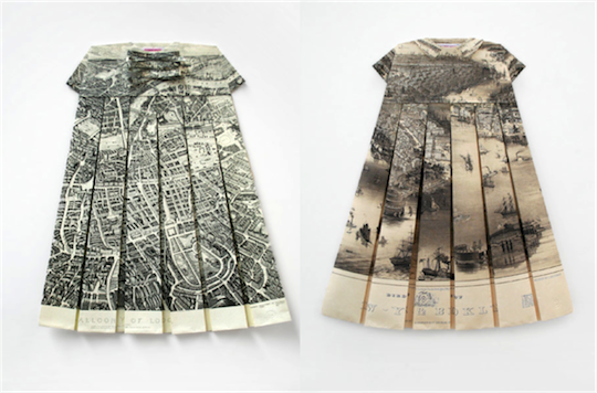 Elisabeth Lecourt Map Dress