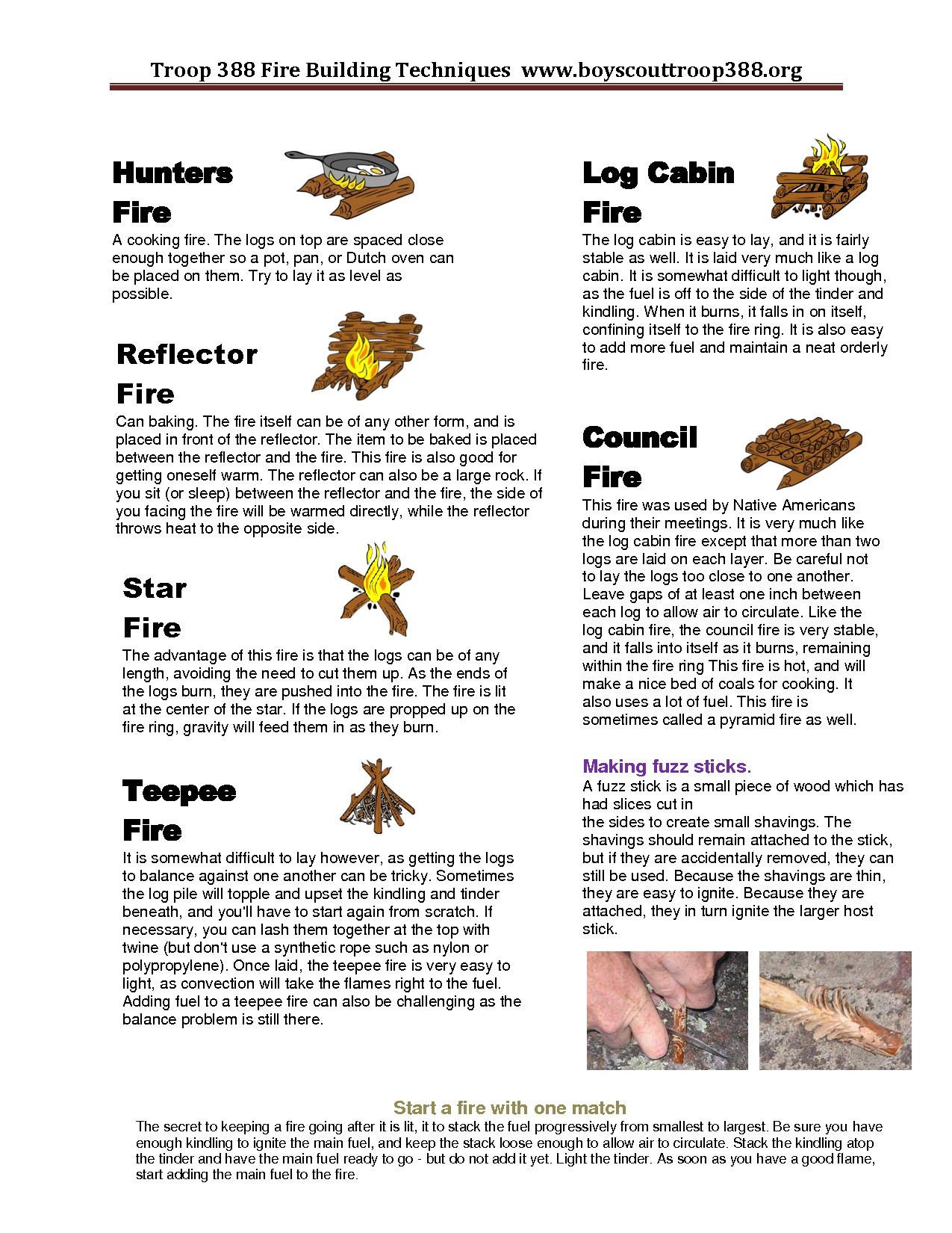 Types Of Camp Fires