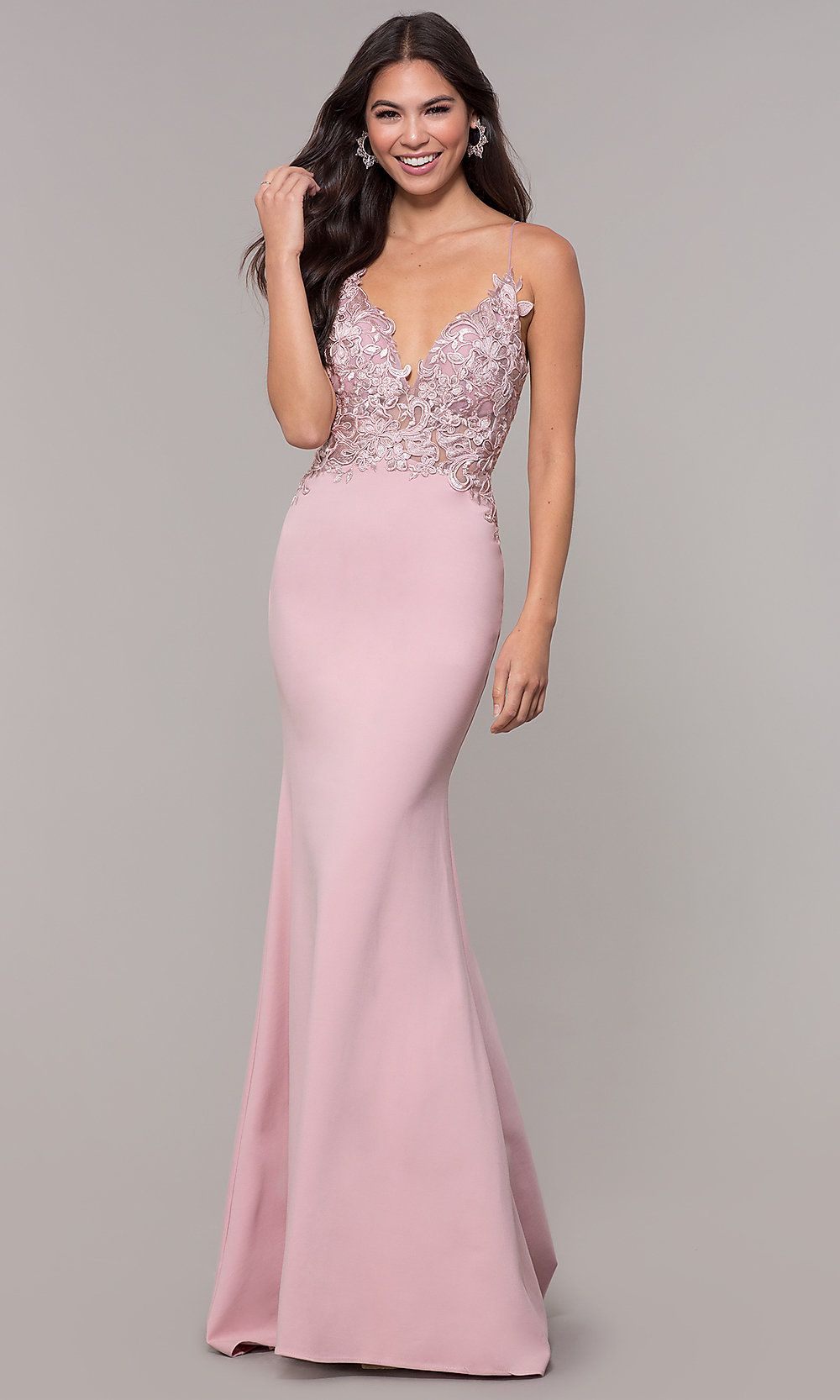 5ef6a46c465 Sleeveless Prom Dress with Embroidered Bodice in 2019