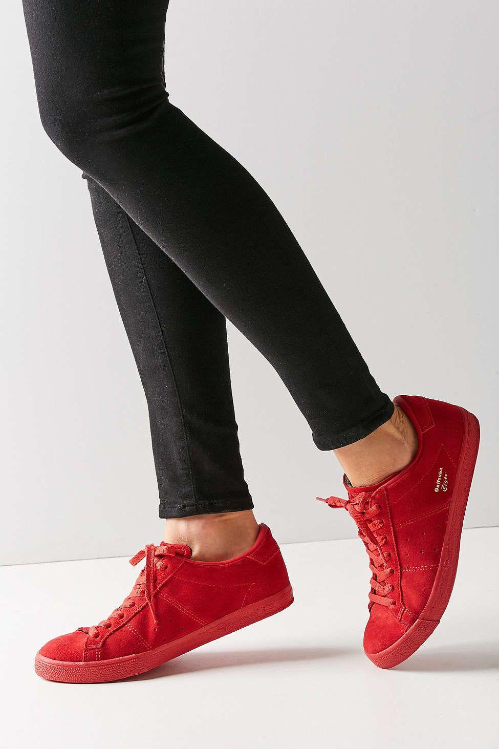 Asics Onitsuka Tiger Red Mono Lawnship Sneaker  6013fcc3e73