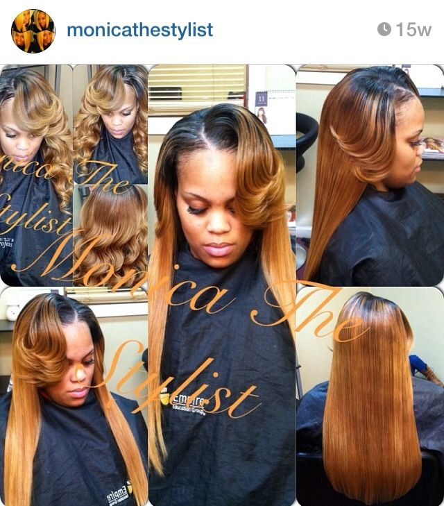 Blonde Side Part Sew In Natural Hair Styles Gorgeous Hair