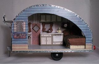 Half-scale vintage travel trailer - Half-scale vintage travel trailer | by weeb ... -  Half-scale vintage travel trailer – Half-scale vintage travel trailer | by weebruins – #CamperT - #CampingChecklist #CampingHacks #CampingProducts #CampingTips #FamilyCamping #Halfscale #RvCamping #scale #trailer #travel #vintage #VintageTravelTrailers #weeb