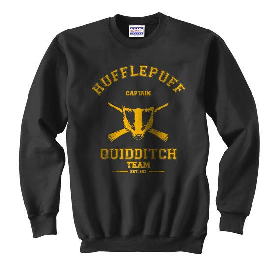 Harry Potter Unisex Hogwarts Hufflepuff Hoodie Hooded Sweatshirt