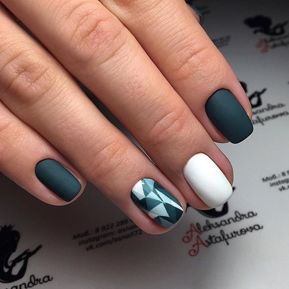 Идеи дизайна ногтей гель лаком на короткие ногти 84
