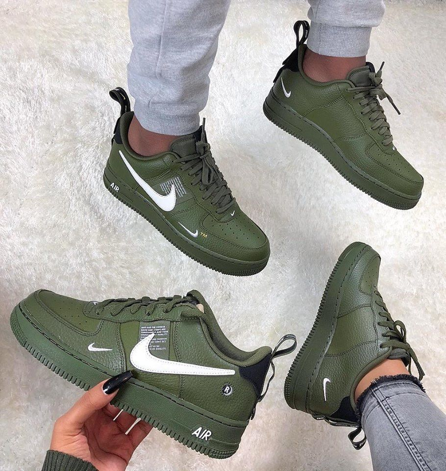 Nike Air Force 1'07 lv8 Utility ( GS) Damen Sneaker oliv