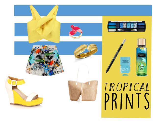 """tropical"" by hitchcock-erica ❤ liked on Polyvore featuring Delpozo, Suboo, Kate Spade, L.A. Colors, Urban Decay, Lipsy, INC International Concepts, tropicalprints and hottropics"