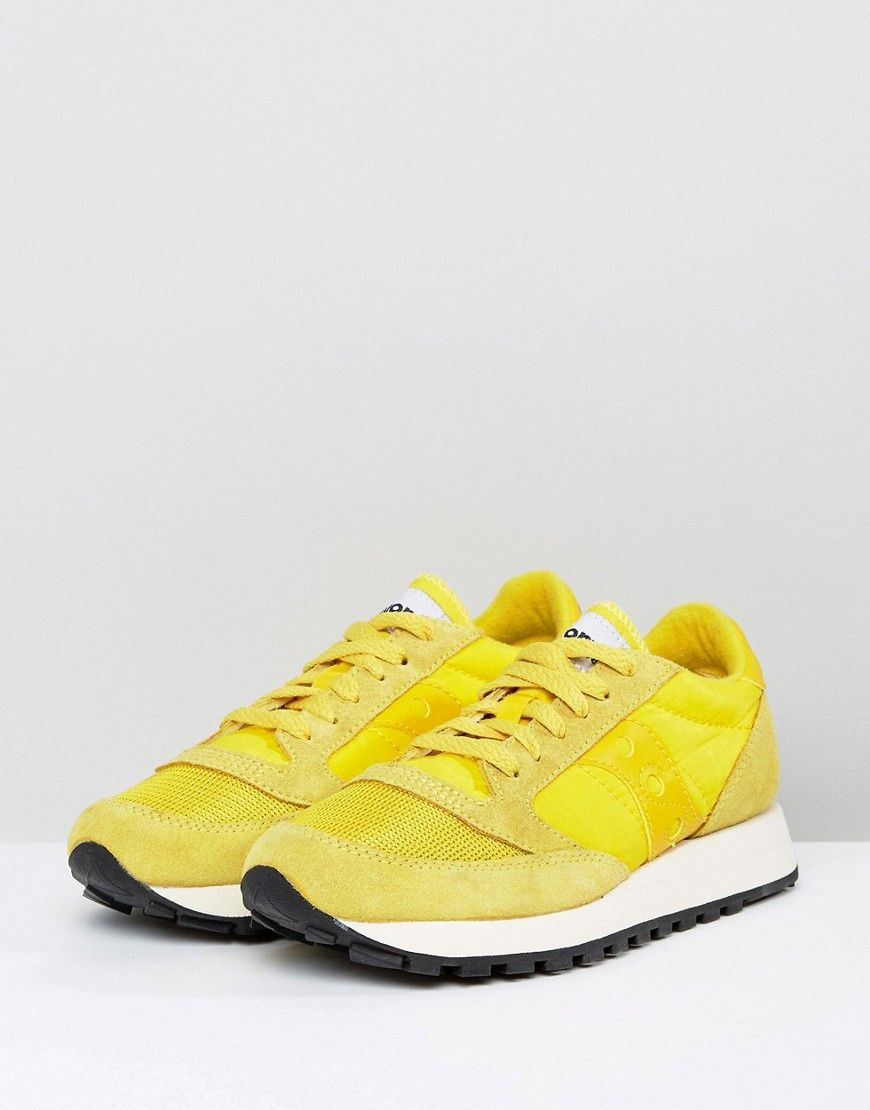 158073fbfba Saucony Jazz O Vintage Sneakers In Yellow - Yellow