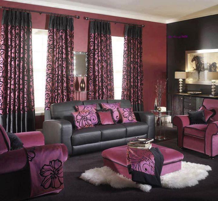 Magenta Bedroom: Living Room Decorating Ideas