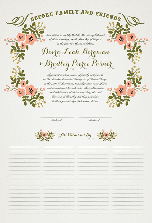 Keepsake Marriage Certificates and Ketubahs Certificate - sample marriage certificate