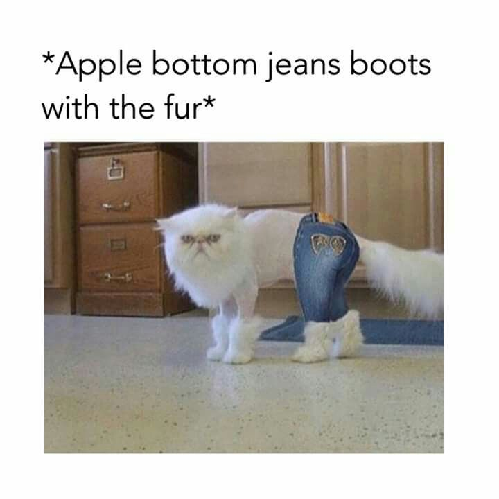 Apple bottom jeans boots with the fur
