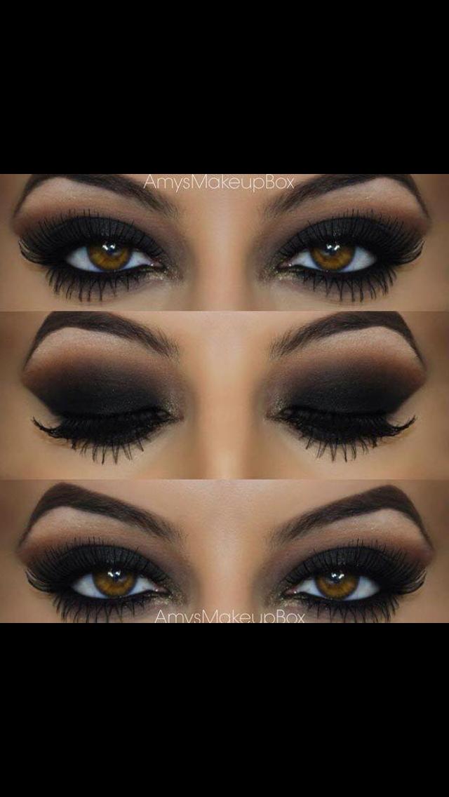 Black eyeshadow Black eyeshadow makeup, Black eyeshadow